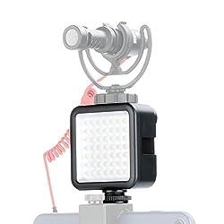 Ulanzi Ultra Bright LED Video Light - LED 49 Dimmable Portable High Power Panel Video Light for Canon Nikon DSLR Cameras,for Zhiyun Smooth 4 DJI OSMO Pocket Mobile 3 2 Gimbal Vlog Video Accessory