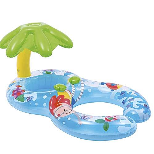 QXM Mutter und Kind Kreis Schwimmring Sitzring Baby Schwimmring Baby Unterarmring,Blue