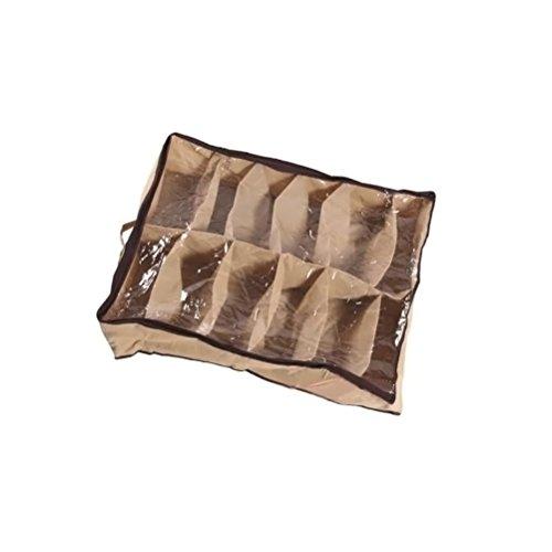 OUNONA 12 Paar Schuhe Organizer Halter Stoff Schrank Aufbewahrungstasche Pouch Box