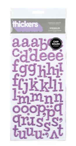 American Crafts Thickers Spanplatte Glitzer Aufkleber 6X 27,9cm Blatt Sprinkles, 2Stück, lavendel -
