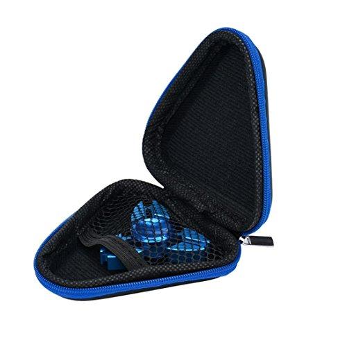 Tefamore Regalo para Fidget Hand Spinner Triángulo Finger Toy Focus TDAH Autismo Bolsa Caja (Azul)