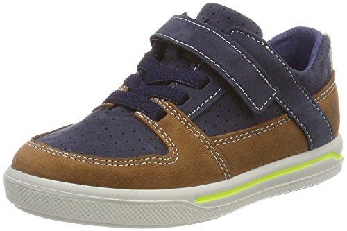Ricosta Jungen Ted Sneaker, Blau (Nautic/Curry), 35 EU