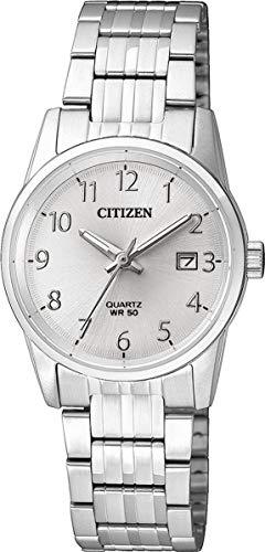 Citizen Damen Analog Quarz Uhr mit Edelstahl Armband EU6000-57B (Uhr Citizen Silber Damen)