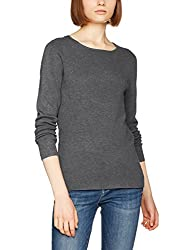 VERO MODA Womens Synthetic Pullover (1956969003_Medium Grey Melange_Small)