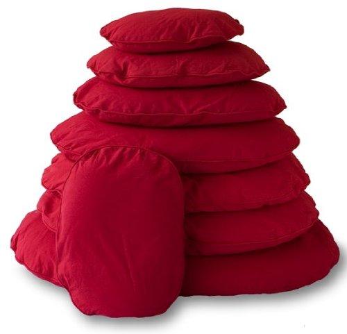Lex & Max PETFAB - Bezug TIVOLI für OVAL Hundekissen-Füllung - Größe: 80 cm, Farbe: Rot