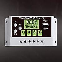 Lovelysunshiny Exhibición Solar del LCD del Interruptor del regulador de la Carga de 10A 12V / 24V para la batería de Litio