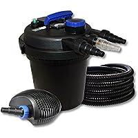 SUNSUN Impresión Estanque Juego de filtros para 6000L con 11W UVC depuradora y 10W ECO Bomba Manguera de 25m