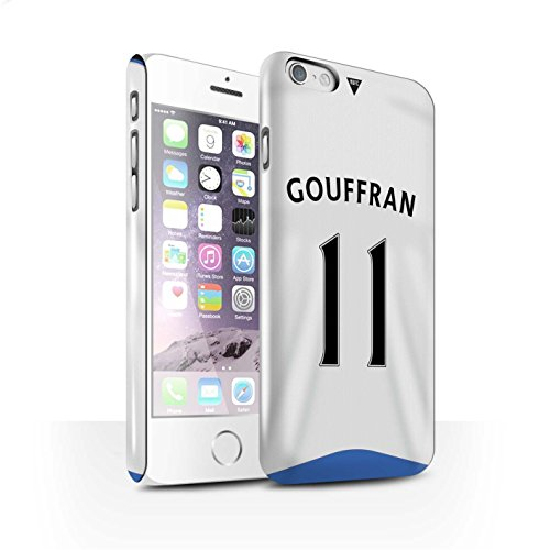 Offiziell Newcastle United FC Hülle / Glanz Snap-On Case für Apple iPhone 6 / Krul Muster / NUFC Trikot Home 15/16 Kollektion Gouffran