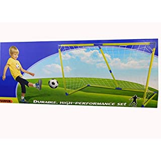 Allkindathings  Kids 154 cm 5ft Football Soccer Goal Nets Post and Ball Indoor Outdoor Sports Toy