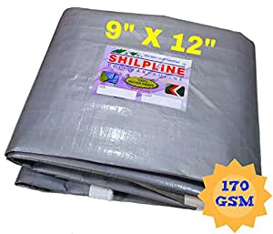 SHILPLINE™ 100% Pure Virgin UV Waterproof Tarpaulin (9 x 12 Ft.) (170 GSM) (Silver)