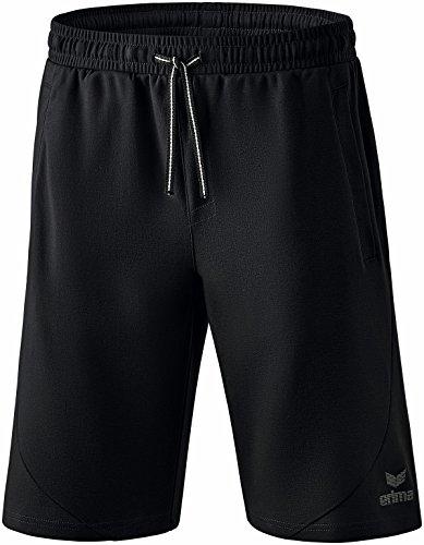 Erima Erwachsene Essential Sweatshorts Shorts, schwarz, XXXL