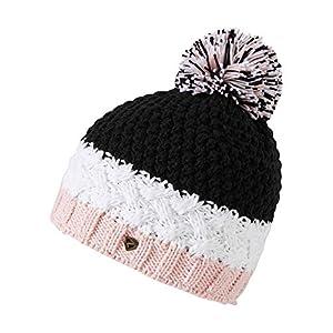 Ziener Damen ISSOGI hat Bommel-Mütze/warm, gestrickt, Black, Usex