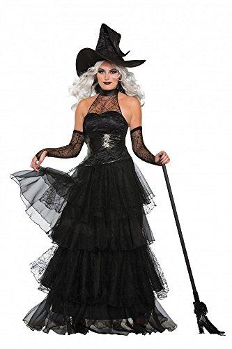 Ember Witch Deluxe Damen-Kostüm inklusive Hut Halloween Hexe Korsage, Größe: XS/S (Glam Hexe Kostüme)