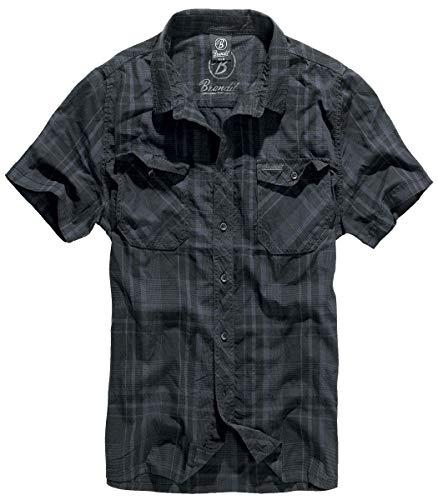 Brandit Roadstar Kurzarmhemd schwarz/blau 5XL
