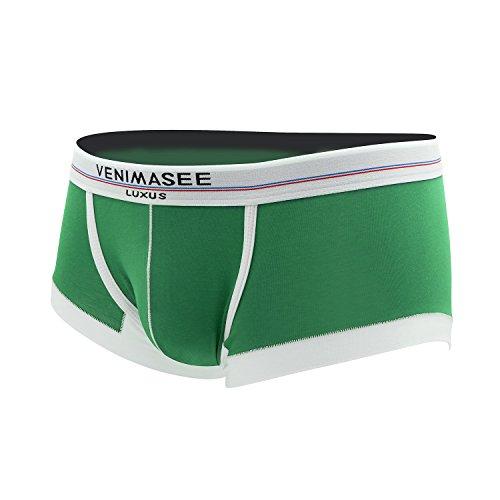 VENI MASEE® New Fashion Sexy Sport Modal Herren Boxer Shorts Unterwäsche Trunks Gr¨¹N