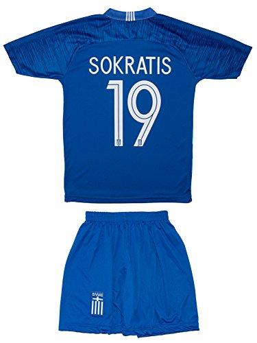 ATB Griechenland 18/19 Kinder Trikot und Hose - Sokratis, Fortounis, Mitroglou (104, Sokratis (Heim))