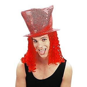 Rire et Confetti Reír y confeti - Disfraces de accesorios - - Fiedis045 Disco sombrero rojo del pelo