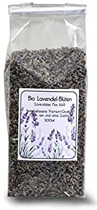 Bio Lavendel-Blüten (lavendulae flores) - 50g Premium-Qualität, sortenrein und 100% Zusatzfrei, aus kontrolliert biologischem Anbau – herrlicher Duft (Lavender Blüten)