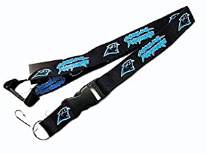 Carolina Panthers Clip Lanyard Keychain Id Ticket NFL - Black by aminco