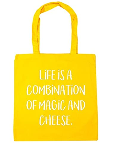 HippoWarehouse Life Is A Combination Of Magic And Cheese Tote Shopping Gym Beach Bag 42cm x38cm, 10