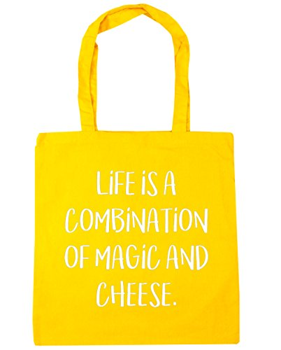 hippowarehouse-life-is-a-combination-of-magic-and-cheese-tote-shopping-gym-beach-bag-42cm-x38cm-10-l