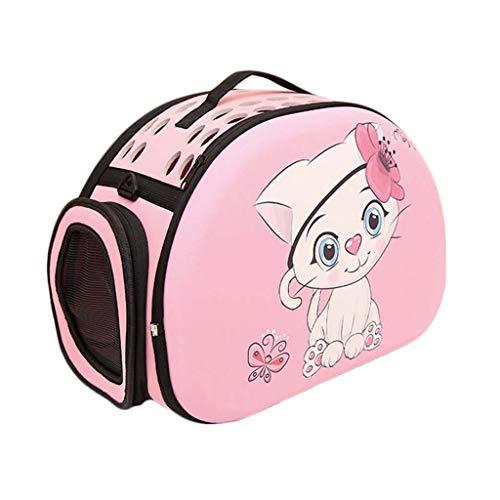 Pet Tragbare Falten Rucksack Schulter Haustier Tasche Katze Outing Bag Eva Material Cartoon Tote Hundeträger für Wandern Camping (Bringen Sie Ihre Toten Kostüm)