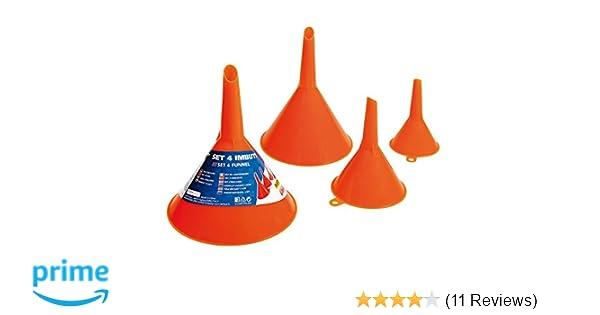50-120mm Plastic Funnel Kit 4 Funnels Sizes