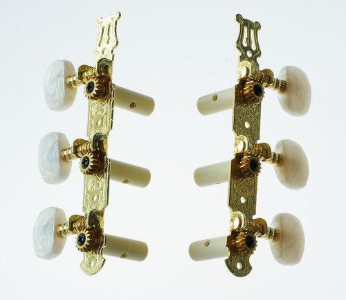 Alice 4260180884685 6 Mechaniken für Konzert Gitarre (3li/3re) Guitar Tuner