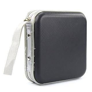 Aztek Black CD Dvd 40 Disc Storage Carry Case Cover Wallet Holder Bag Plastic Games Disk