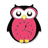 Exclusky Wanduhr Kreative Acryl Clock Dekoration Wandförmige Heißluftballon/Eule Dekor Geschenk Zimmer Kinder Studenten Wohnzimmer Zimmer Home Ohne Batterie (Type B)