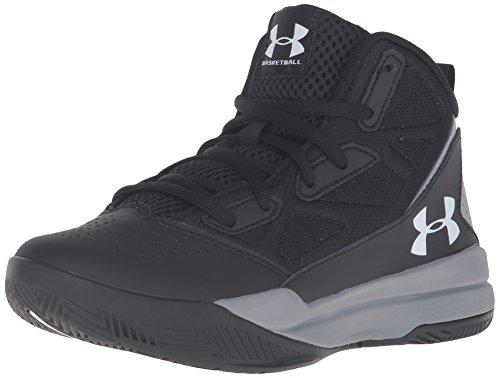 Under Armour UA BGS Jet Mid, Zapatos de Baloncesto para Niños, Negro (Black 001), 36 EU
