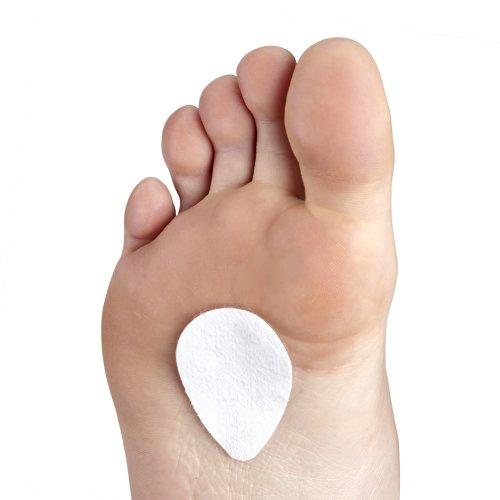 Gelex Kissen Patch Halterung Pad Fuß Mittelfußknochen–Stoßfest–Schutz Wundscheuern Verbrennungen Leuchtmittel Schwielen Hühneraugen (Mittelfußknochens Pads)