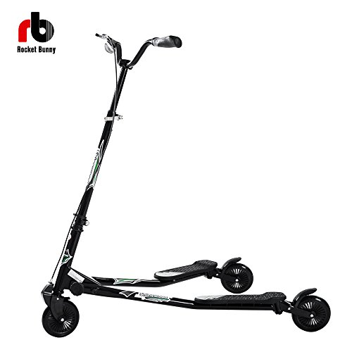 41seCxVylmL - BEST BUY #1 (Btm) Gifts Large Maxi 1030 x 630 x 1000 mm 3 Wheels Tri Slider Scooter Slider Winged Scooter Tri Motion Drifter (Black) Reviews and price compare uk