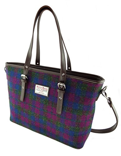 Harris Tweed , Damen Tote-Tasche violett COL 54
