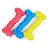 #8: Fluffy Lovers Bone Shaped Spiked Chew Toy for Small Puppy Dogs (Color May Vary)