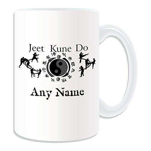Personalisierte Geschenkbox Jeet-Kune-Do-Emblem-Becher (Martial Arts Design