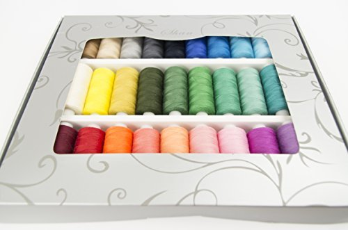 shan-rainbow-colour-sewing-thread-sets-with-gift-box-400-yard-reels-x-33-all-purpose-polyester-domes