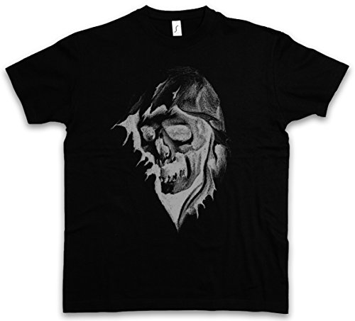 Urban Backwoods Grim Reaper II T-Shirt – Diavolo tristo Sinistro CUPO Mietitore Morte personificata You Belong To Me The Death Skeleton Scythe Cloak Hood Skull Taglie S – 5XL Nero