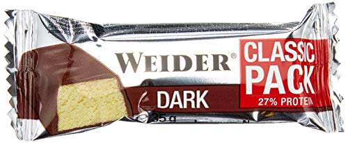 Weider Body Shaper, 40{378067499e3a72992f33a1596e78acce3584ab886174d265b6996916a32ee28b} Protein Bar, Dark-Chocolate, 1er Pack (24x 32g Riegel)