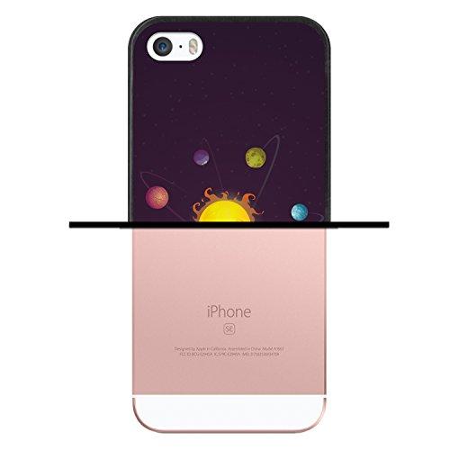 iPhone SE iPhone 5 5S Hülle, WoowCase Handyhülle Silikon für [ iPhone SE iPhone 5 5S ] Mondrian Stil Rechtecke Handytasche Handy Cover Case Schutzhülle Flexible TPU - Transparent Housse Gel iPhone SE iPhone 5 5S Schwarze D0405
