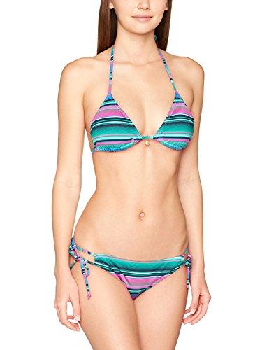 Chiemsee Damen ZOE Triangle Bikini, Stripe Vivid G, M - Stripe Triangle Bikini