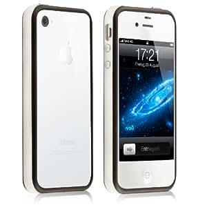 vau Edge Bumper - bright darkness - Schutzcase speziell für Apple iPhone 4S (mit Metallknöpfen)