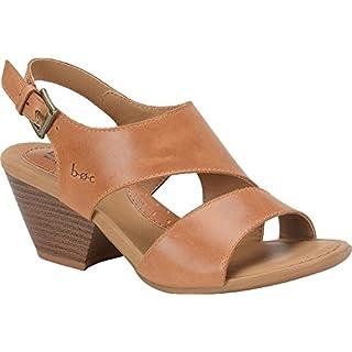 B.O.C Womens angula Leather Open Toe Casual Ankle, Natural/Saddle, Size 10.0 US/8 UK US