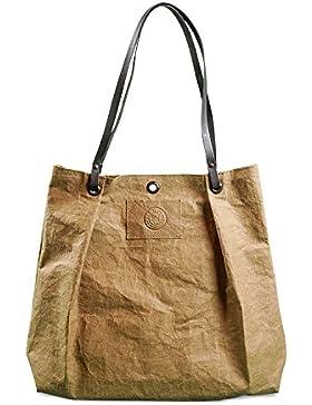 bun-di Swiss SHOPPER BAG OLIVIA – hochwertige Handtasche / Einkaufstasche / Damen Tasche - Waschbares Papier mit...