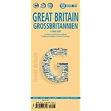 Großbritannien: 1:800 000. Einzelkarten: Great Britain 1:800 000, Channel Crossings 1:800 000, Great Britain & Ireland administrative, Europe time zones (Borch Maps)