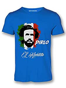 Sportskeeda Italia Andrea Pirlo WC 14 Football T-shirt Royal Blue - XXL