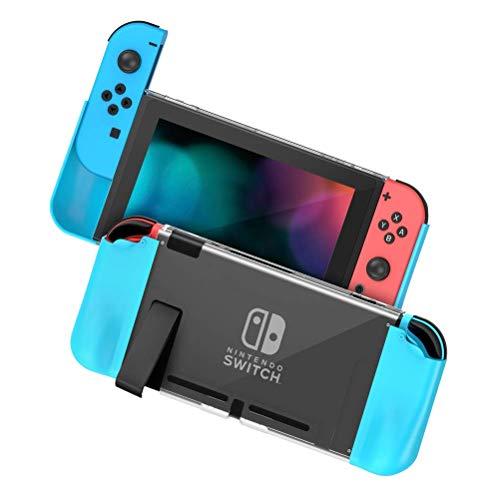 Zecti Schutzhülle für Nintendo Switch, PC + TPU Griffabdeckung Schalter für Konsole und Joy-Con Controller, Anti-Rutsch Nintendo Switch Zubehör Cover Grip Case mit ergonomischem Anti-Scratch Design