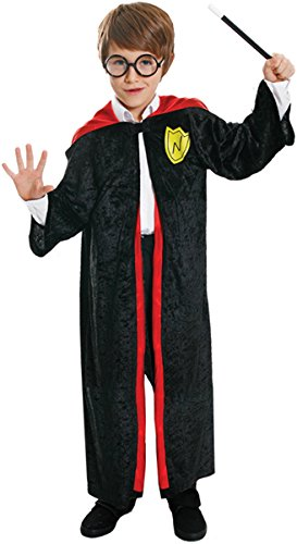 Boys Girls Wizard Robe Fancy Dress Costume Harry Potter Dressing Up Outfit for World Book Day All Ages VEX (10-12 (Harry Baby Potter Kostüme)