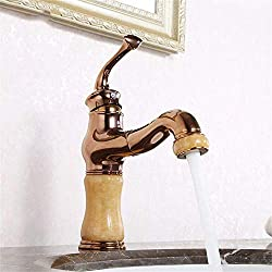 MVW Copper of read & faucet cold antiquity washstand Jade fitting faucet - bathroom wash basin mixer open fitting quick only wash basins frames of the wash basin tap bath rooms wash basin mixer fauce