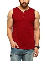 Gritstones Henleys T-Shirt Maroon-GSCSHLY720MRN-S